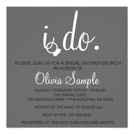 Bridal Shower I do Invitation