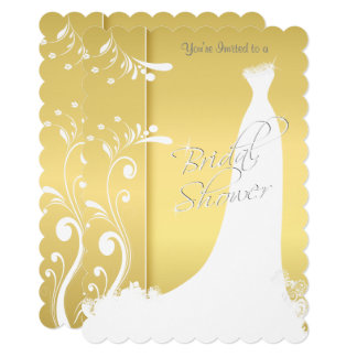Bridal Shower in a Beautiful Yellow Invitation