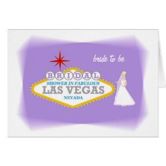 Bridal Shower In Fabulous Las Vegas bride to be Ca Card