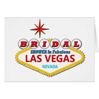 BRIDAL SHOWER In Fabulous Las Vegas Card