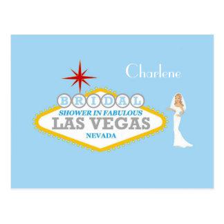 BRIDAL SHOWER IN FABULOUS LAS VEGAS FOR CHARLENE P POSTCARD
