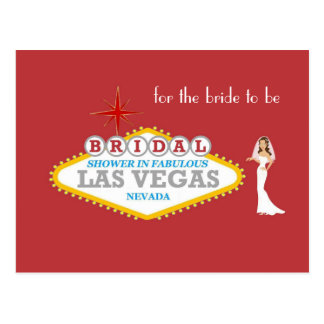 BRIDAL SHOWER IN FABULOUS LAS VEGAS for the bride  Postcard