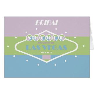 BRIDAL Shower In Fabulous Las Vegas Spring Card
