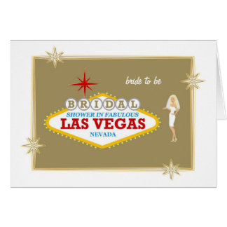 Bridal Shower In Fabulous Las Vegas with BRIDE Car Card