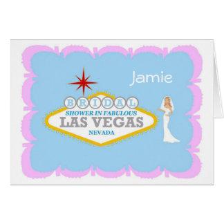 Bridal Shower In Fabulous Las Vegas with BRIDE Car Greeting Card