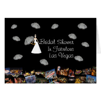 Bridal Shower In Fabulous Las Vegas, with Floating Greeting Card