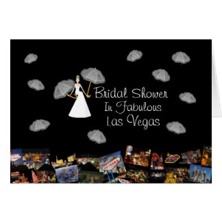 Bridal Shower In Fabulous Las Vegas with floating  Greeting Card