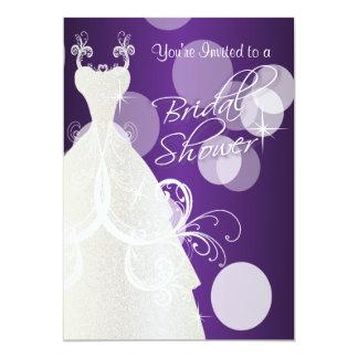 Bridal Shower in Metallic Purple Card