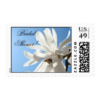 Bridal Shower invitaions postage stamps Magnolias