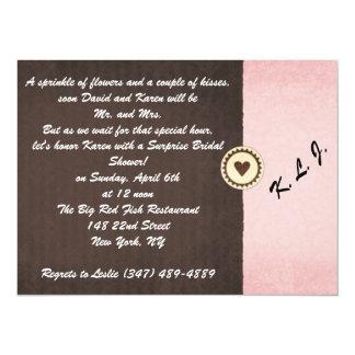 "Bridal Shower Invitation 5.5"" X 7.5"" Invitation Card"