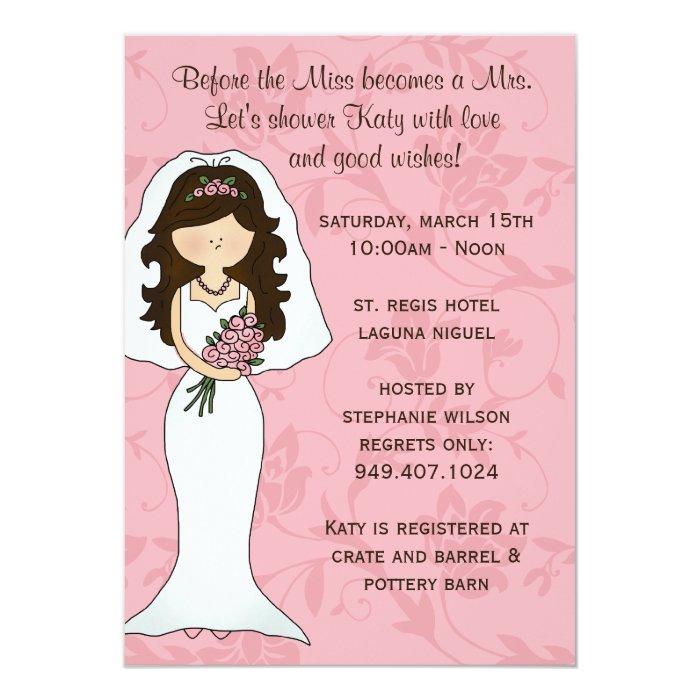 Bridal shower invitation zazzle for Bridal shower email invitations