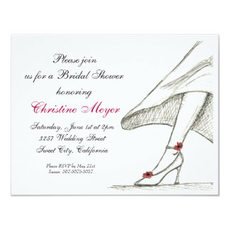 Bridal Shower Invitation 4.5x 5.5 Design Sketch