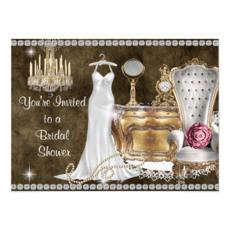 BRIDAL SHOWER INVITATION Antique Wallpaper