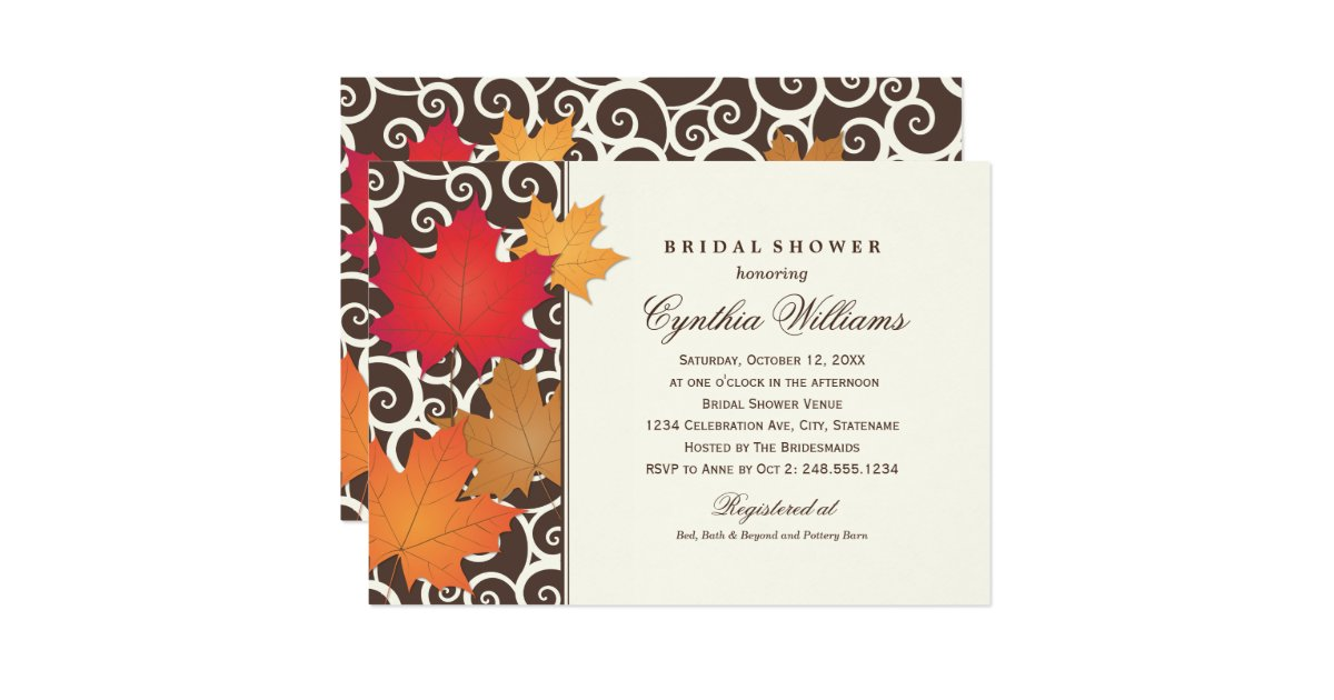 Fall themed bridal shower invitations 28 images fall bridal fall themed bridal shower invitations fall bridal shower invitations announcements zazzle fall themed bridal shower filmwisefo