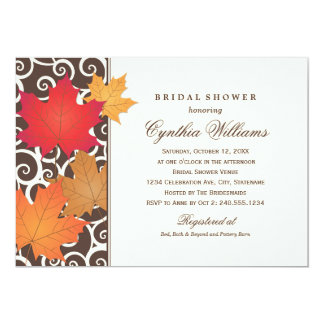 Bridal Shower Invitation | Autumn Fall Theme