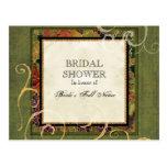 Bridal Shower Invitation Autumn Grape Leaf Postcards