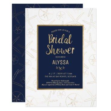 Beach Themed Bridal Shower Invitation - Beach, Nautical