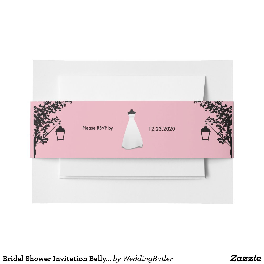 Bridal Shower Invitation Belly Band