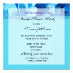 Bridal shower invitation, blue flower personalized invitation