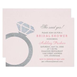 Bridal Shower Invitation | Blush Diamond Ring
