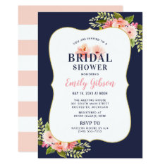 Bridal Shower Invitation | Blush Floral Watercolor at Zazzle