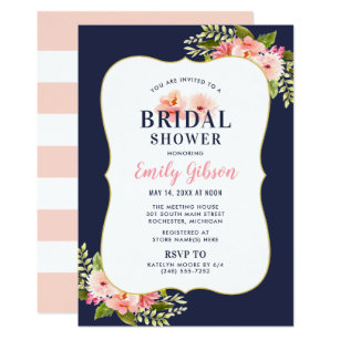 Bridal shower invitations zazzle bridal shower invitation blush floral watercolor filmwisefo