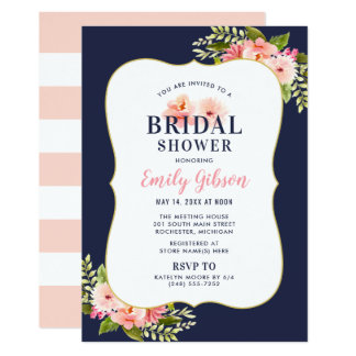 Bridal Shower Invitation | Blush Floral Watercolor