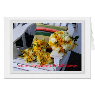 Bridal Shower Invitation, Bouquets, Adirondack Cha Card