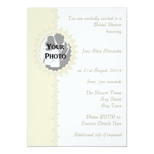 Bridal Shower Invitation Broderie Anglaise Lace