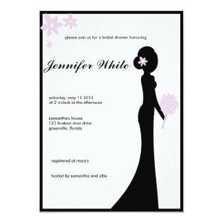 Bridal Shower Invitation Classy Silhouette