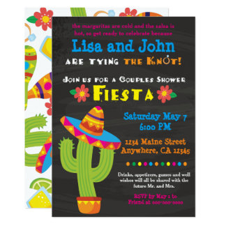 Bridal Shower Invitation- Couples, Fiesta Card