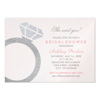 Bridal Shower Invitation | Diamond Ring Design