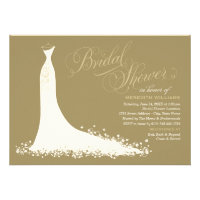 Bridal Shower Invitation | Elegant Wedding Gown Custom Announcements (<em>$1.90</em>)