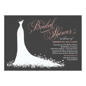 Bridal Shower Invitation | Elegant Wedding Gown Custom Invitations