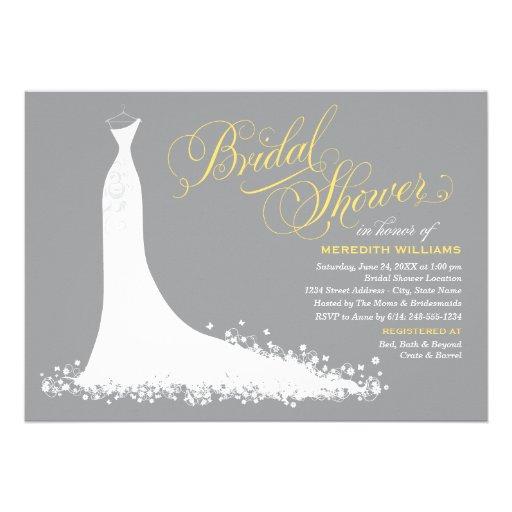 Bridal Shower Invitation | Elegant Wedding Gown