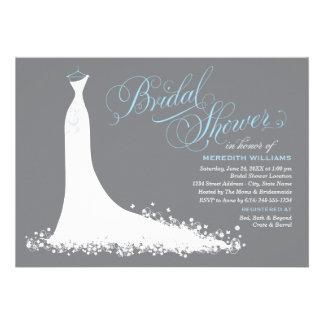 Bridal Shower Invitation Elegant Wedding Gown Invite