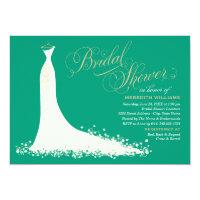 Bridal Shower Invitation | Elegant Wedding Gown (<em>$2.01</em>)
