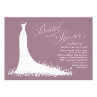 Bridal Shower Invitation | Elegant Wedding Gown Custom Invitation (<em>$1.90</em>)