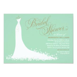 Bridal Shower Invitation | Elegant Wedding Gown Personalized Invites