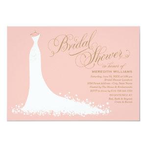 Bridal shower invitations custom wedding invitations online bridal shower invitation elegant wedding gown invite filmwisefo Images