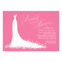 Bridal Shower Invitation | Elegant Wedding Gown Cards (<em>$1.90</em>)