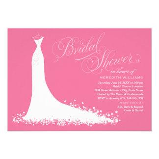 Bridal Shower Invitation Elegant Wedding Gown Cards