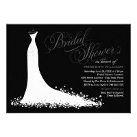Bridal Shower Invitation | Elegant Wedding Gown (<em>$1.90</em>)