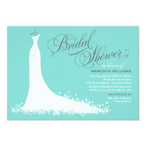 Bridal Shower Invitation | Elegant Wedding Gown Custom Invitation