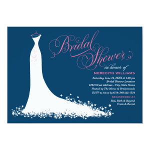 Bridal Shower Invitation | Elegant Wedding Gown Announcement