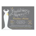 Bridal Shower Invitation, Elegant Wedding Gown Card