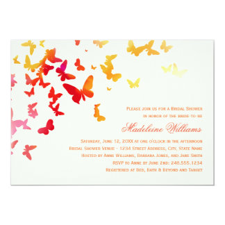 Bridal Shower Invitation   Fluttering Butterflies