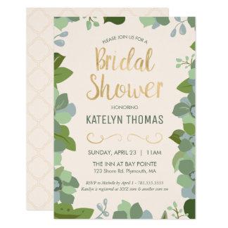 Bridal Shower Invitation - Garden, Custom, Floral