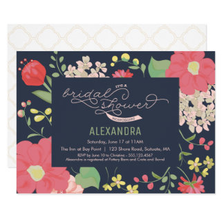 Bridal Shower Invitation - Garden, Flowers, Spring