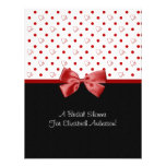 Bridal Shower Invitation Girly Red Hearts